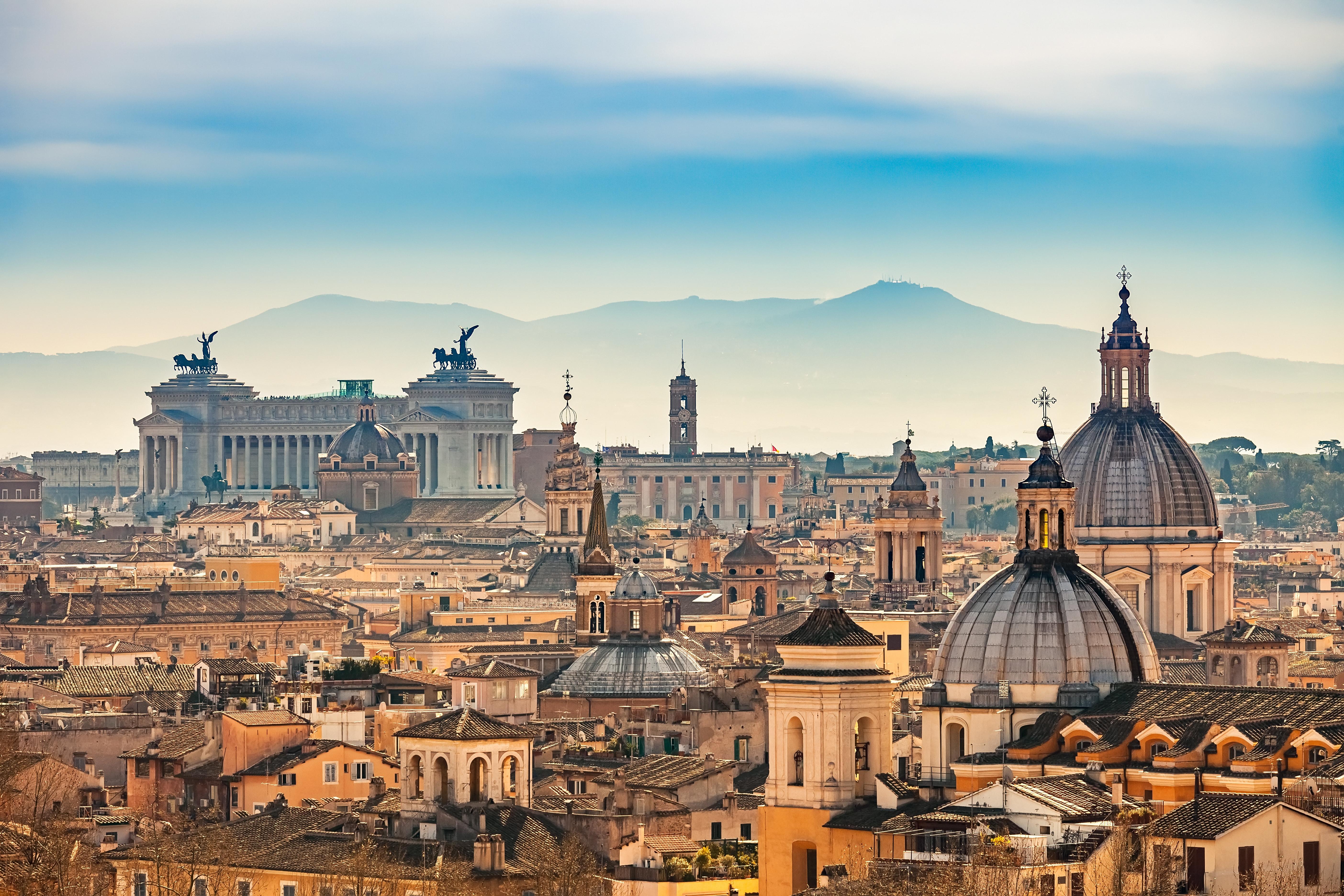 vista panoramica de roma durante las vacaciones